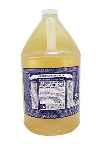Frontier Natural Products Co-op 5030 Dr. Bronners Magic Soaps 18-in-1 Hemp Pure Castile Soaps Peppermint 1 gallon by Frontier -
