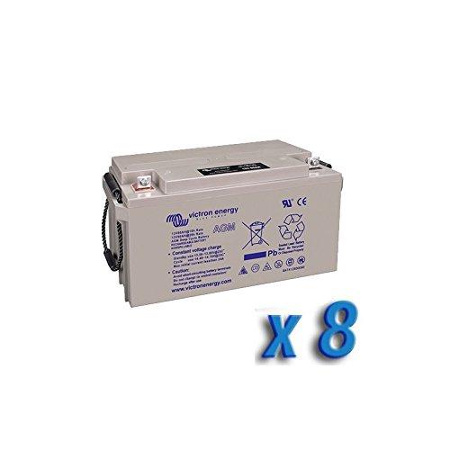 Victron Energy - Set 8x Batterie 130Ah 12V AGM Deep Cycle Victron Energy Photovoltaïque - BAT412121084x8