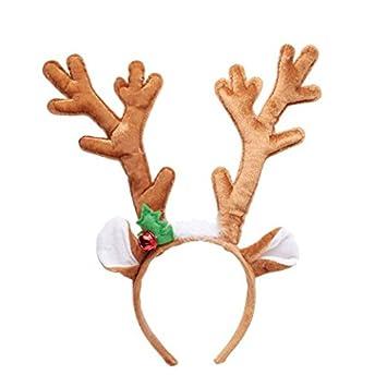 Reindeer Antlers Christmas Headband (35cm) by Gisela Graham ...