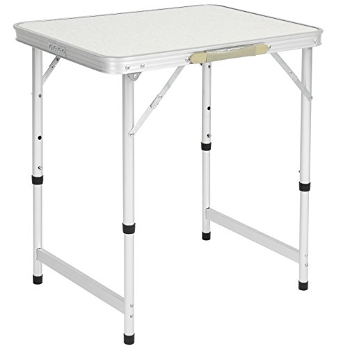 Best Choice Products Aluminum Camping Picnic Folding Table Portable Outdoor, 23.5″ x 17.5″
