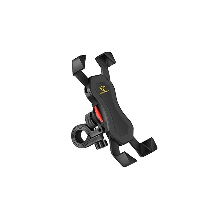 visnfa New Bike Phone Mount Anti Shake and Stable 360° Rotation Bike Accessories for Any Smartphone GPS Other Devices Between 3.5 and 6.5 inches … (Black)
