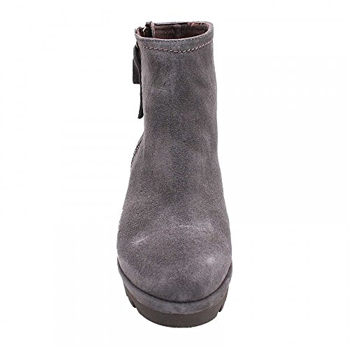 ALPE Wedge Side Zip Ankle Boot Grey Suede