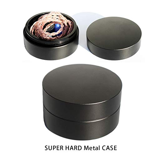 Super Hard Aluminum IEM Earbuds Case for High-end Earphones, Earbuds, in Ear Monitors Protective case,Made from Aluminum bar Through Precision CNC milling(1 Case only)