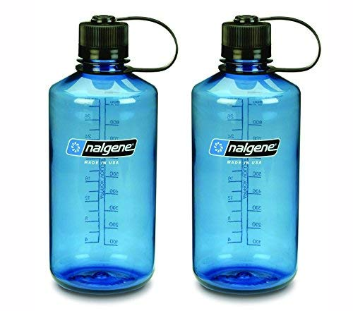 NALGENE Tritan 1-Quart Narrow Mouth BPA-Free Water Bottle (Slate Blue Set of 2)