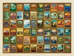 True South ''National Parks Patches Print'' Jigsaw Puzzle 500 Pieces 18x24