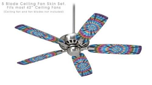 Tie Dye Swirl 101 – 天井ファンスキンキットFits Most 42インチファンおよびブレードNot Included )   B071G4HF5M