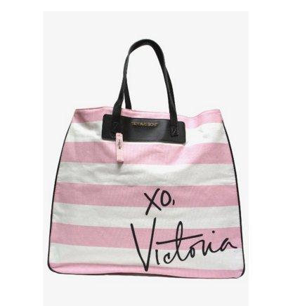 - Victoria's Secret Canvas Striped Signature Tote