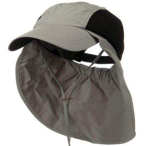 Juniper UV 50+ Talson Side Mesh Flap Cap - Grey