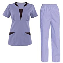 Scrub Set Medical Nursing Uniform Set Top and Pants