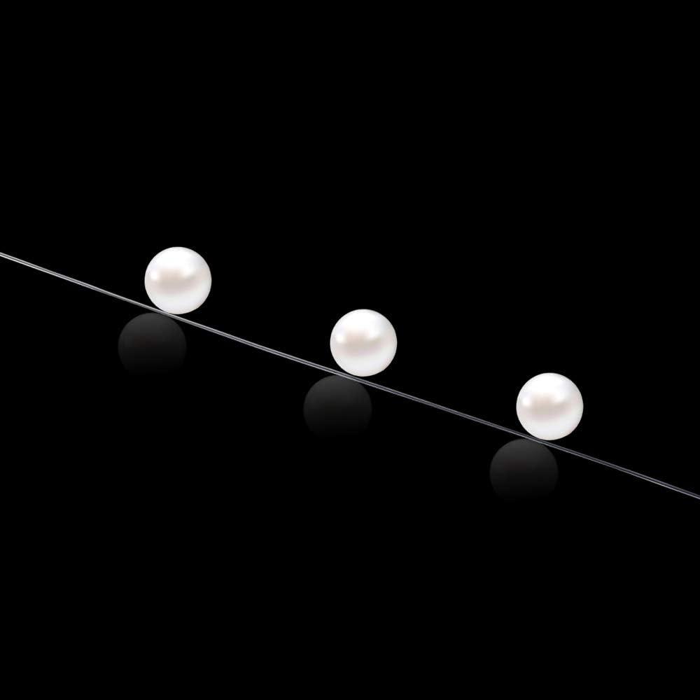 SENZEAL Diam/ètre 2x0.6mm Ligne /élastique en Nylon Clair Fil de Nylon pour Le Tissage de Perle de Bijoux 15M