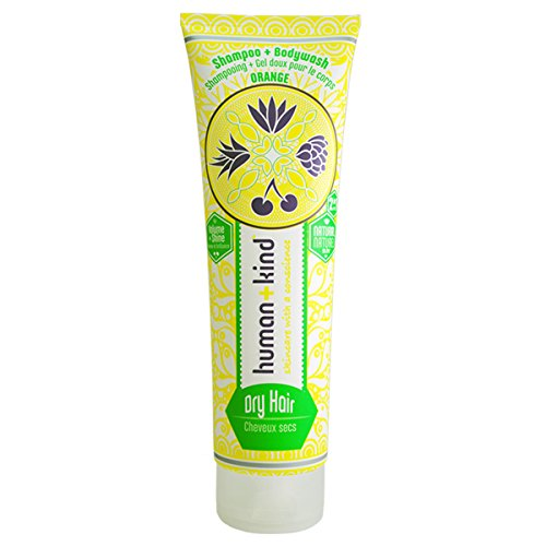 human + kind Shampoo Plus Bodywash Dry Hair, 1er Pack (1 x 200 ml)