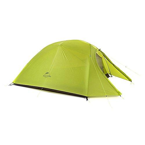 Man 3 Season Ultralight Tent - Naturehike Cloud-Up 3 Person 4 Season Ultralight Backpacking Tent Mustard Green (20D Nylon Coated Silicone)
