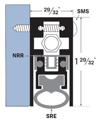 TMS Automatic Door Bottom, Heavy Duty Surface Mounted Dark Bronze 36'' by Trademark Soundproofing (Image #3)