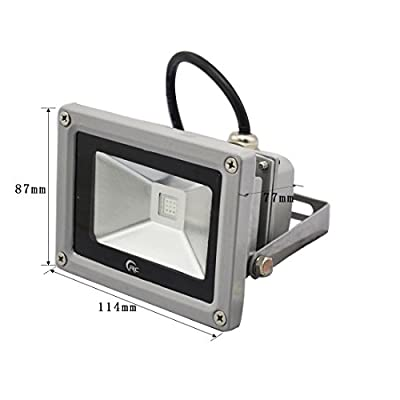 RC 10W/30W Waterproof RGB LED Color Changing Flood Light,Indoor Outdoor Security 16 Color & 4 Modes LED Light with 24Key IR Remote Control and US 3-Plug
