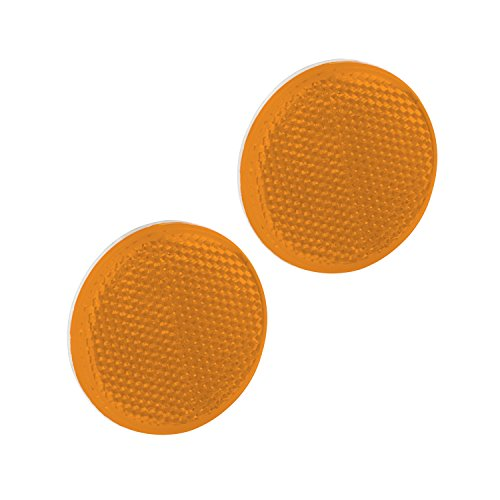 Bargman 74-55-020 Reflector (Class A 2-3/16'' Round Amber with Adhesive Back - 2 Pack) by Bargman (Image #1)