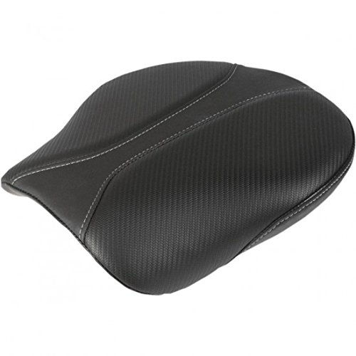 (Saddlemen Dominator Solo Seat Pillion Pad Smooth SaddleHyde Motorcycle Accessories - Black)