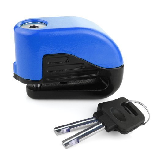 Anti Thief Sound Security Alarm Electron Disc Brake Lock 6mm Pin For Motorcycle Motorbike Safety Sport Racing Bike (Blue)