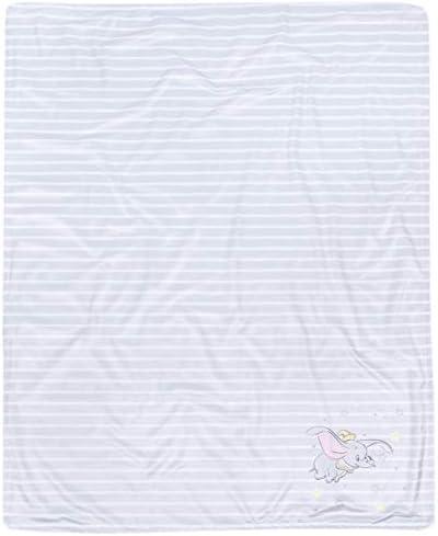 sarciaeu Beige Gestreept Fleece Snug tapijt gooien deken Dumbo DISNEY