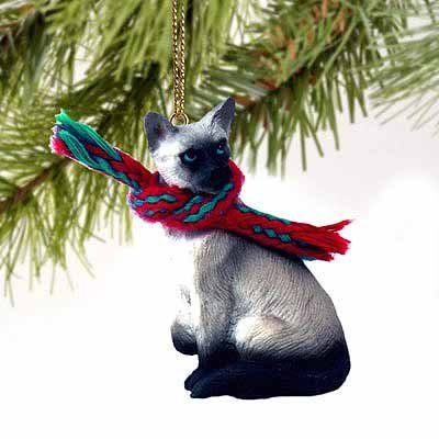 Tiny One Collectible Cat Ornament - Siamese Cat Christmas Ornament