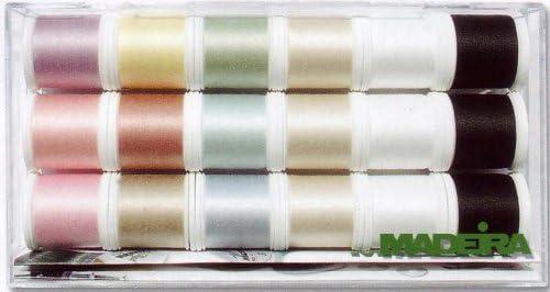 Madeira 8031 Cotona - Caja de Hilos de Costura (n.º 80, 18 bobinas ...