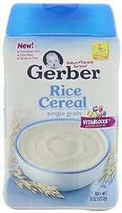 Gerber Single-Grain Rice Baby Cereal, 8 oz (Pack of 6)