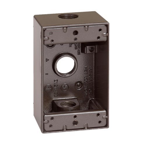 Sigma Electric 14250BR 1/2-Inch 3 Hole 1-Gang Box, (1g Gang Weatherproof Box)
