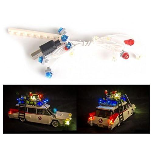 ARUNDEL SERVICES EU Kit d'éclairage LED pour lego Ghostbusters Ecto-1 21108 Kit d'éclairage Lego Led lego lumières Lumières lego Blocs de construction Lego Compatible chasseurs de fantômes