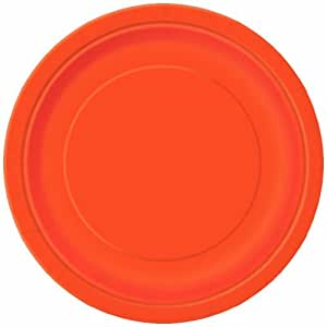 Dessert Plates, Orange, 8 Count by Unique Industries