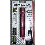 MagLite Mag-Tac LED 2-Cell CR123 Flashlight - Crowned-Bezel, Crimson Red