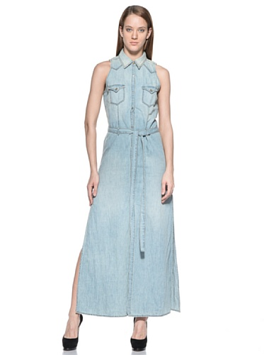Diesel PILKLON Dresses Blue Denim (Small) ()