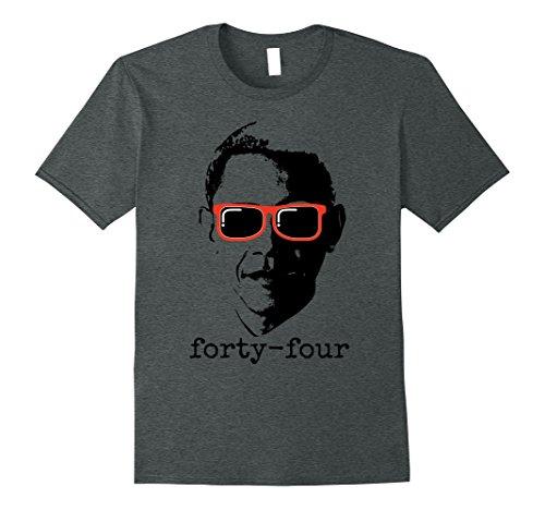 Mens Obama 44 President T-Shirt Small Dark - Shirt Sunglasses