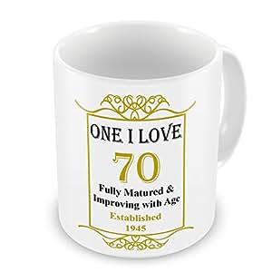 Un amo 70th establecido cumpleanos 1945 años cardioversión - oro