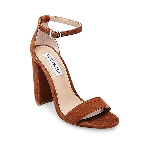 M 6 Women's Chestnut Heeled Suede Sandal Steve Carrson Us Madden xq4wB88