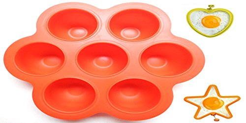 Toby Misc. Red Silicone Egg Bites Molds with