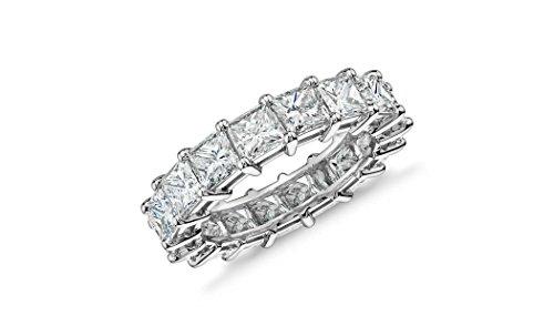 Women 4MM Princess Cut Eternity Wedding Engagement Band, Sizes 5-9 (Antique Eternity Wedding Ring)