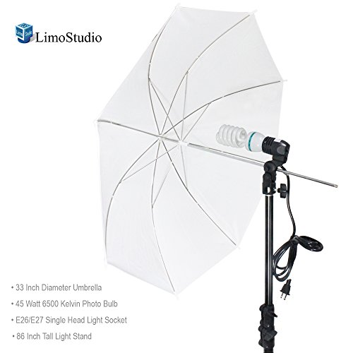 LimoStudio Photography White Photo Umbrella Light Lighting Kit, AGG1754 - Camera Lighting