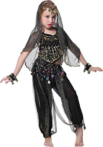 Girls Gypsy Halloween Costumes Girls Gypsy Halloween Costumes Size 3T 4T 4 5 6 7 8 9 12 14 16 Black -