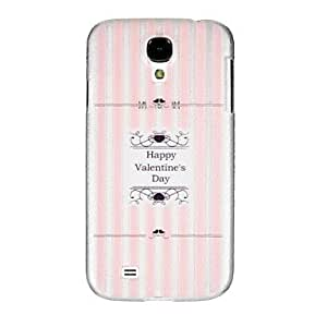 GOG-Happy Valentine Day Transparent Plastic for The Samsung Galaxy S4 I9500