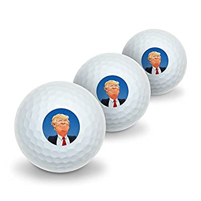 Happy Donald Trump Make America Great Novelty Golf Balls 3 Pack