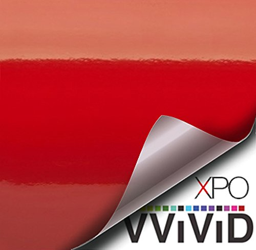 VViViD Red Gloss Car Wrap Vinyl Roll with Air Release Adhesive 3mil (50ft x 5ft)