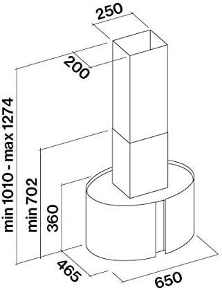 Kit Vetri Manhattan per Cappa Mirabilia Round LED Isola 65 cm Falmec