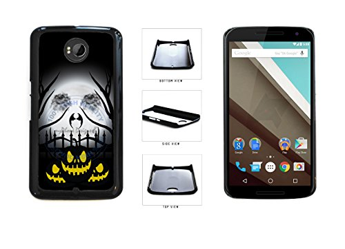 [Halloween Pumpkin With Moon Face Plastic Phone Case Back Cover For LG Google Nexus 6 D821 comes with Security Tag and myPhone Designs(TM) Cleaning Cloth] (Google Halloween Costumes)