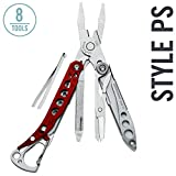 LEATHERMAN - Style PS Keychain Multitool with Spring-Action Scissors and Grooming Tools, Red
