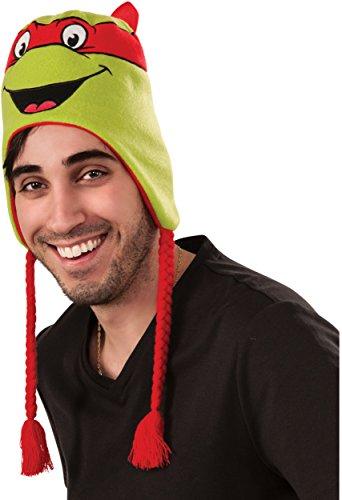 Rubie's Men's Teenage Mutant Ninja Turtles Raphael laplander Hat, As Shown, One Size