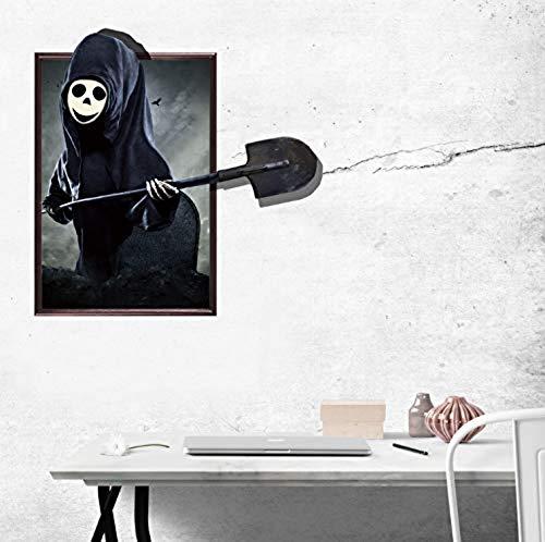 Poster DIY Wallpaper 3D Halloween Horror Decor Vivid Ghost Bat Scary Wall Sticker Decal Removable 58X77Cm Vinyl Wall Sticker PVC ()