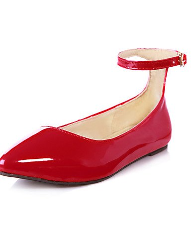 red plano Casual almendra las zapatos Flats talón rojo Toe mujeres azul cn39 PDX us8 de negro verde eu39 uk6 señaló amarillo wfazqqX