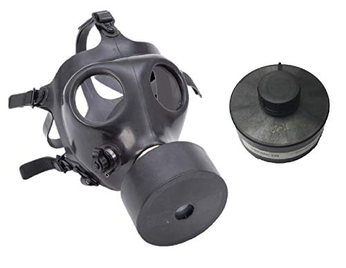 Israeli Rubber Respirator Mask NBC Protection For Industrial Use, Chemical Handling, Painting, Welding, Prepping with Drinking Straw/Tube With Extra - Rubber Gas