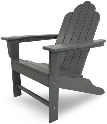 POLYWOOD ECA15GY Long Island Adirondack Chair
