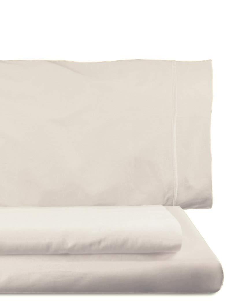 Lasa Royal - Juego de funda nórdica, 240 x 220 cm, bajera ajustable, 158 x 200 cm, 2 fundas para almohada, 45 x 85 cm, color crudo