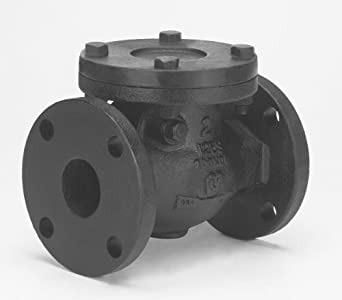 Milwaukee Valve 2974-M Series Iron Swing Check Valve, Class 125, Flanged